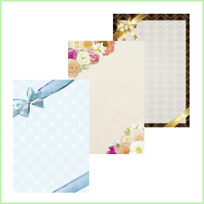 挨拶状カード (多用途・手書き用)