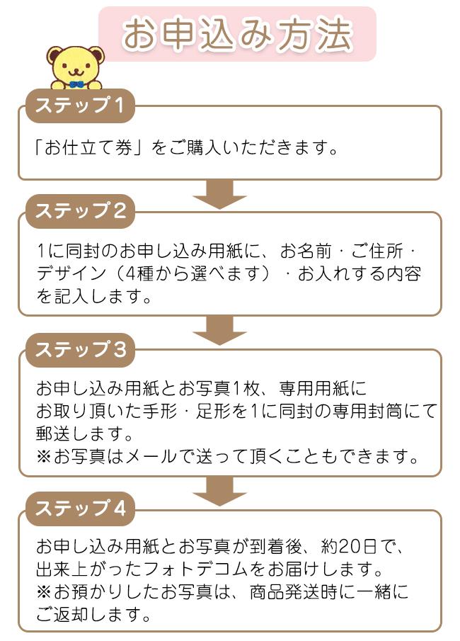 フォトデコム クリアガラス手形・足形【お仕立て券】 No.100