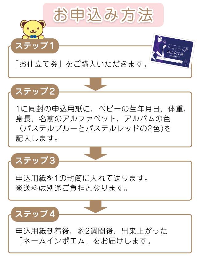 ネームインポエム 1人用ベビーアルバム【お仕立て券】 No.72