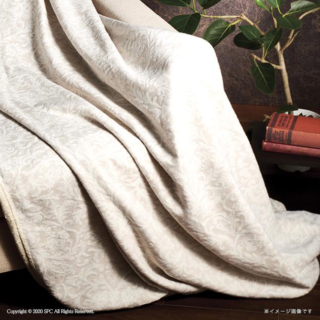 ロイヤルリッチ 国産ジャカードシルク・綿リバーシブル毛布 No.500