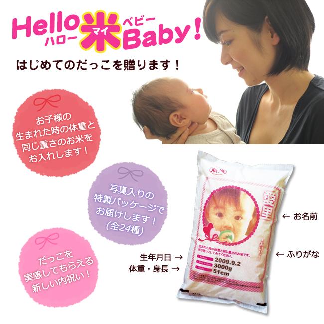 hello-米-baby No.50 ※5個以上でご注文可能・2週間前後での発送 【名入れ専用】